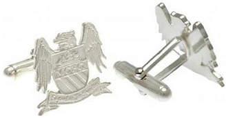 Manchester City Silver Plated Man City Crest Cufflinks