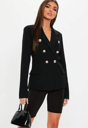 Missguided Black Military Blazer