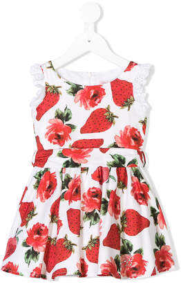 Miss Blumarine strawberry printed dress