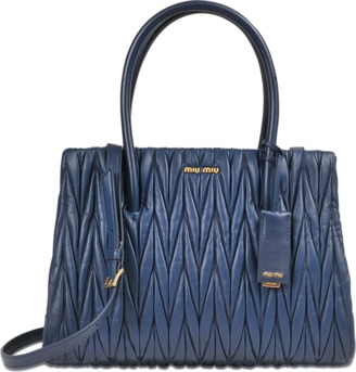 Miu Miu Club tote in quilted nappa leather $1,857 thestylecure.com