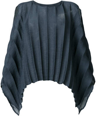 Issey Miyake textured stripe single sleeve top