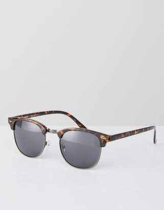 New Look Square Sunglasses In Brown Pattern