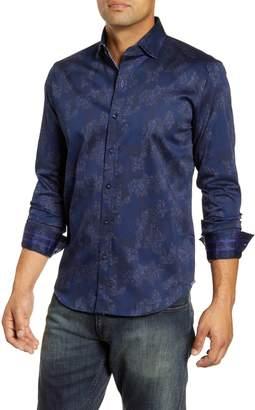 Robert Graham Lee Regular Fit Floral Camo Button-Up Sport Shirt