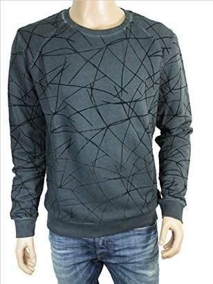 GUESS Men's Round Long Jumper Grey X-Large
