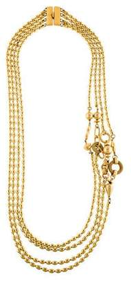 Saint Laurent Multistrand Bead Necklace