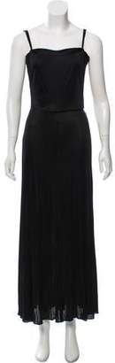Calvin Klein Collection Open Back Square Neck Dress