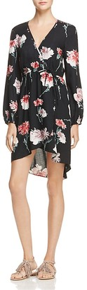 Band of Gypsies Floral Faux Wrap Dress $64 thestylecure.com