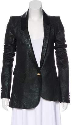 If Six Was Nine Metallic Leather Blazer w/ Tags