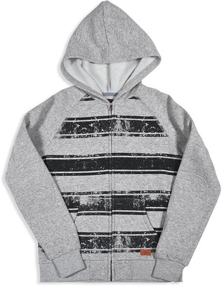 7 for All Man Kind Boys' Distressed Stripe Fleece Hoodie - Sizes 8-16 $60 thestylecure.com