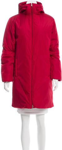 pradaPrada Hooded Knee-Length Coat
