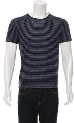 John Varvatos Linen-Blend Striped T-Shirt
