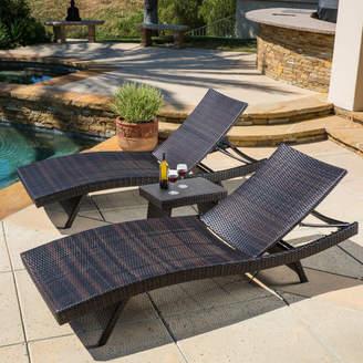 Mercury Row Colletti 3 Piece Chaise Lounge Set