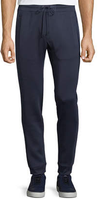 Michael Kors Men's Woven-Trim Sporty Scuba Jogger Pants