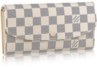 Louis Vuitton Canvas Emilie Wallet N63546