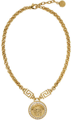 Versace Gold Medusa Coin Chain Necklace