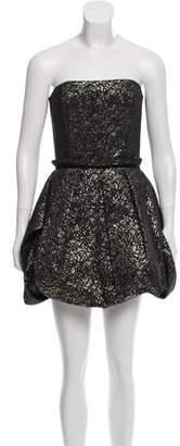 Rachel Zoe Strapless Bubble-Hem Dress