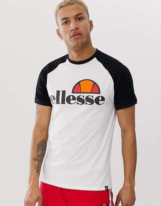 Ellesse Cassina t-shirt in white & black