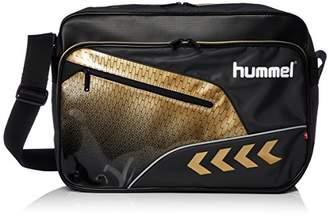 Hummel (ヒュンメル) - [ヒュンメル] ショルダーバッグ ターポリンショルダーバッグ HFB3128 9038 ブラック*ゴールド (9038)