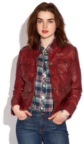 Lucky Brand Bordeaux Leather Jacket