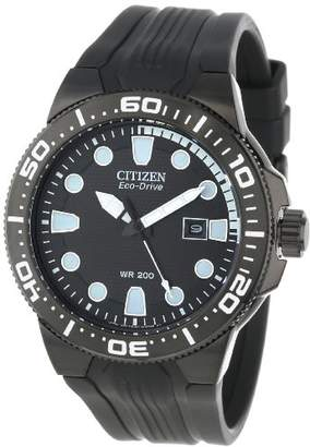 "Citizen Men's BN0095-08E ""Scuba Fin"" Eco-Drive Stainless Steel and Polyurethane Diver's Watch"