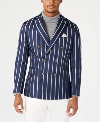 Tallia Men Slim-Fit Navy Stripe Double Breasted Dinner Jacket
