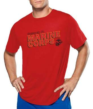 Big Men's Military Officially Licensed Marines Performance Comfort Wear Graphic Tee, 2XL