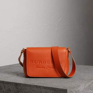 Burberry Small Embossed Leather Messenger Bag