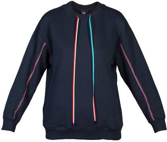 L23 - Cotton-Jersey Sweatshirt With Colorful Shoelaces