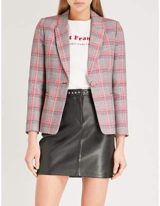 Claudie Pierlot Checked cotton-blend blazer