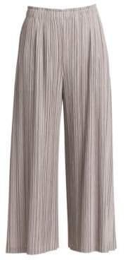 Pleats Please Issey Miyake Women's Mellow Pleats Culottes - Grey - Size 5 (XL)