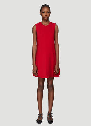 Valentino Petal Hem Dress in Red