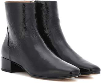Francesco Russo Patent leather ankle boots