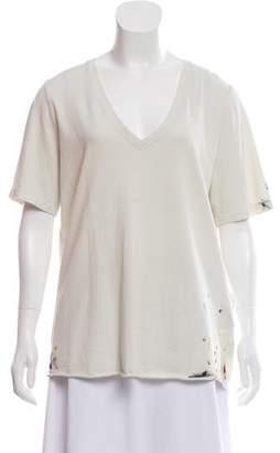 Raquel Allegra Short Sleeve Paint Splattered Top w/ Tags