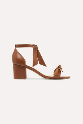 Alexandre Birman Clarita Bow-embellished Leather Sandals - Tan