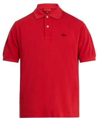 Junya Watanabe X Lacoste Cotton Pique Polo Shirt - Mens - Red