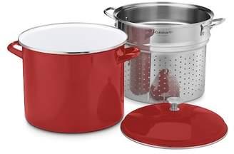 Cuisinart 20-Quart Stockpot Steam Set - 3 Piece Set - Red