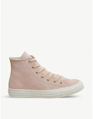 Converse leather high-top trainers
