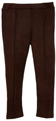 Mayoral Faux-Suede Pintucked Leggings, Size 3-7