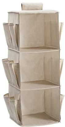 Pottery Barn Teen Hanging Closet Organizer W/ Shoe Pockets, Linen