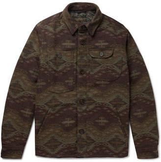 Freemans Sporting Club Patterned Wool-Blend Primaloft Shirt Jacket