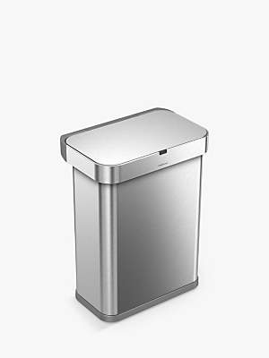 Simplehuman Voice Activated Bin, 58L, Brushed Steel