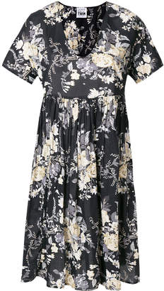 Twin-Set floral print flared dress