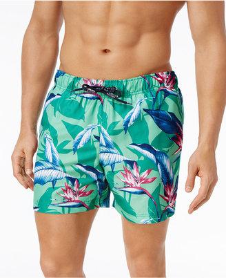 Tommy Hilfiger Men's Tropical Print Swim Trunks $69.50 thestylecure.com