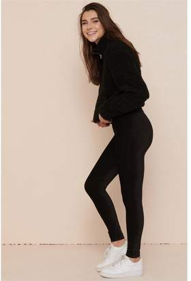 Garage High Waist Ribbed Velour Legging