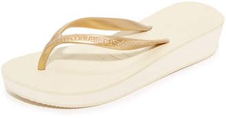 Havaianas High Light Wedge Flip Flop $32 thestylecure.com