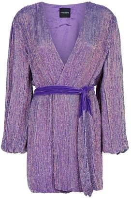 retrofete Gabrielle Sequin Wrap Mini Dress