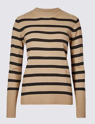 Marks and Spencer Striped Turtle Neck Jumper