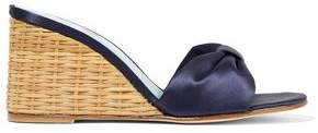 Mr By Man Repeller Satin Wedge Sandals