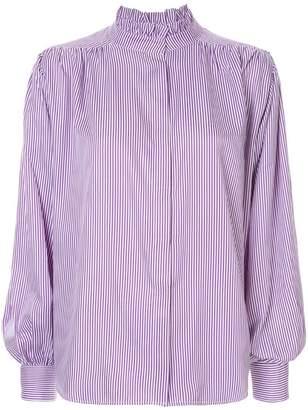 0232c7149af7cf Bambah pleated detail pinstripe blouse