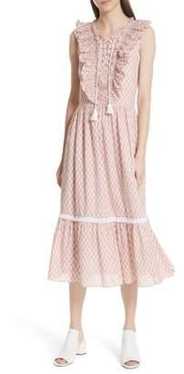 Kate Spade arrow stripe lace up dress